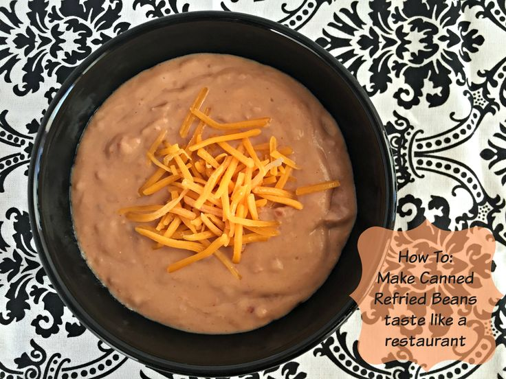 how to make canned refried beans taste like a restaurant - anaffairfromtheheart.com Whether you eat these as a side dish for your favorite meal, or bake them with melted cheese for a super good and easy dip, you are going to want o make them! #beans #refriedbeans #restaurantstyle