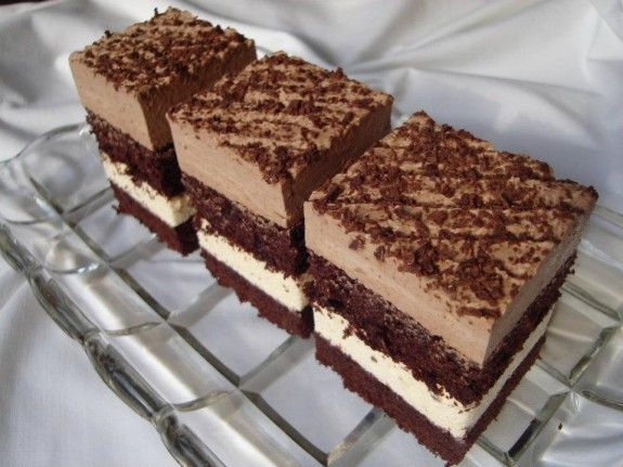 Čokoládovo vanilkové krémové kocky