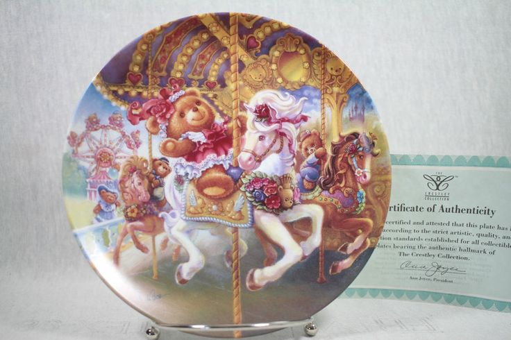 Here we go round Teddy Bear Fair Crestley Cllection plate 1993 by Tom Dubois#L05