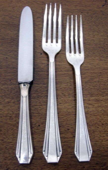 MACHINE AGE ART DECO FLATWARE ROSTEREI GERMANY