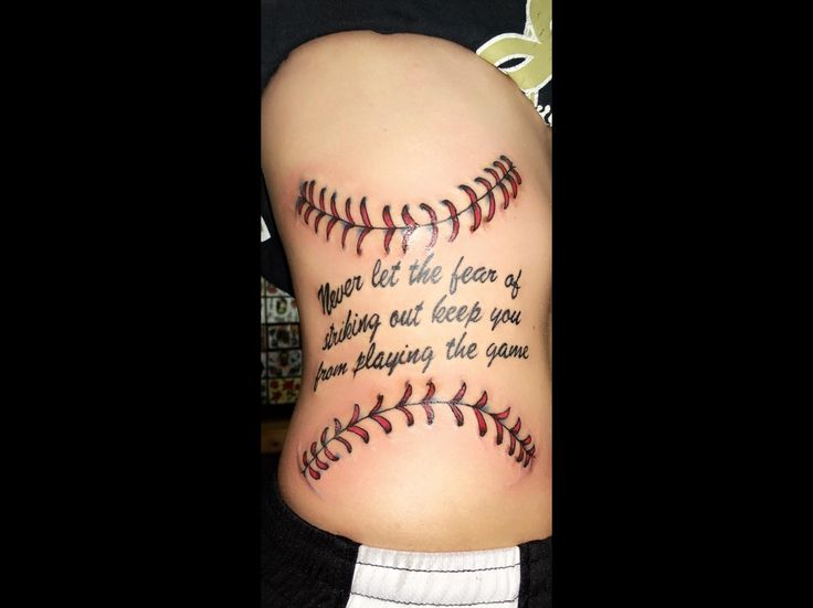 Softball or baseball tattoo for those who love the game