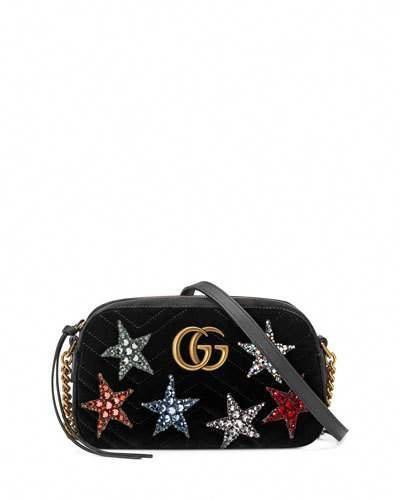 58f51188a3b Gucci GG Marmont Crystal-Star Velvet Camera Bag  Guccihandbags ...