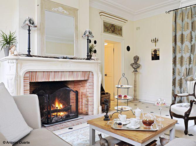 #cheminee #salon #blanc #tea #time
