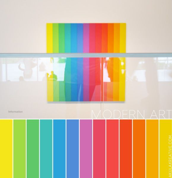 A Modern Art Inspired Color Palette With Images Rainbow