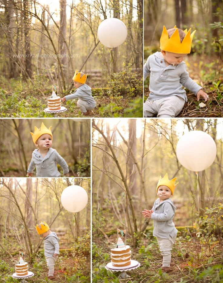 Outdoor cake smash in the forest | Toronto Baby Photographer | Krista Lii | Cake Smash