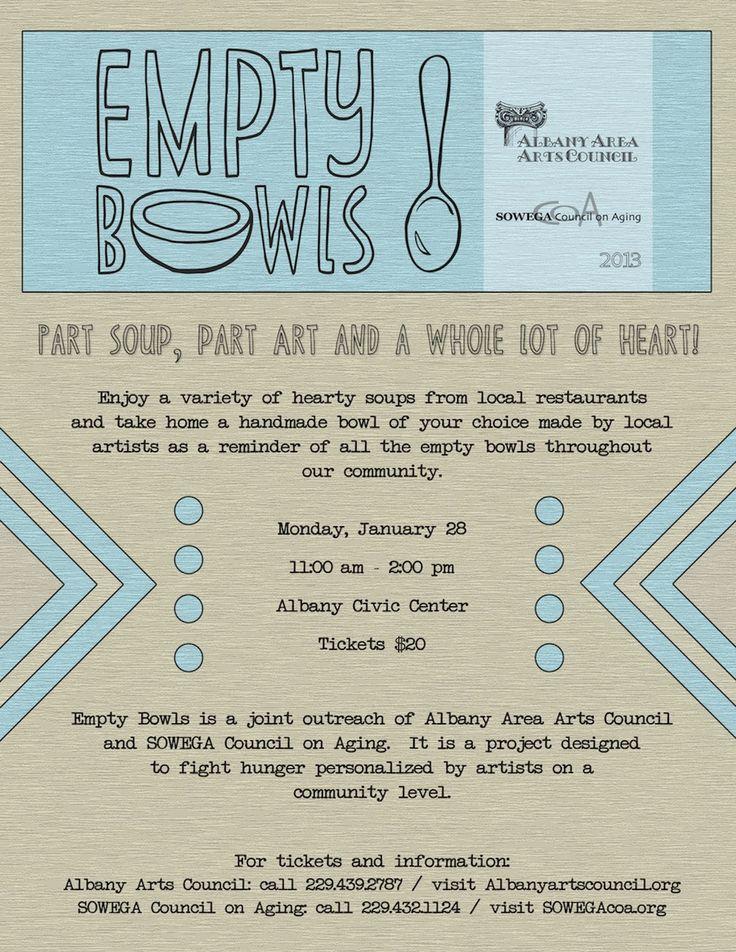 "Albany Area Arts Council: Empty Bowls - love the ""Part Soup, Part Art, & a WHOLE lot of HEART!"""