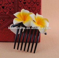 Artificial Foam Plumeria Flower with Comb