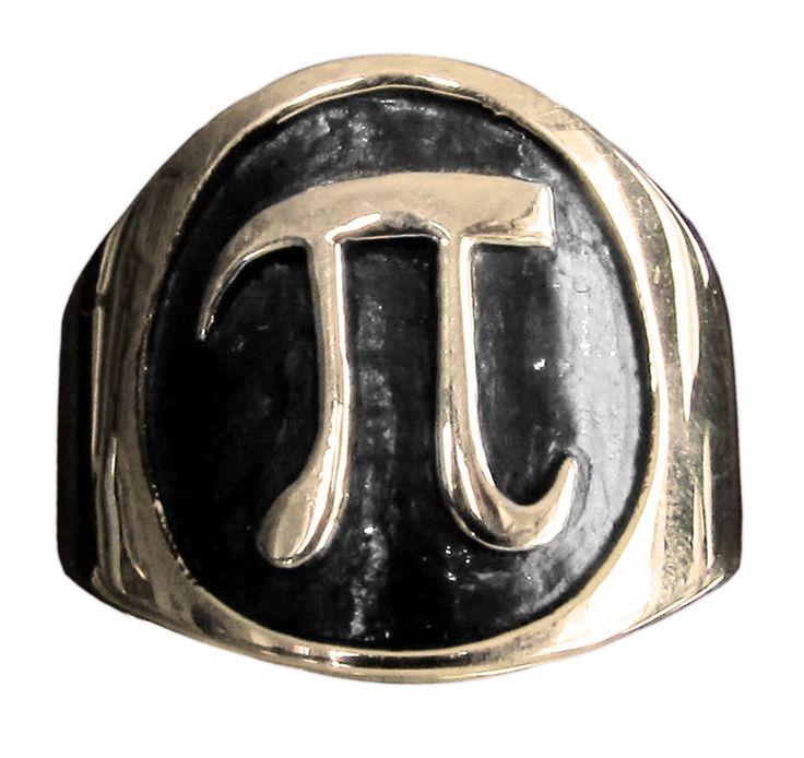 PI Ring Greek Letter in Bronze