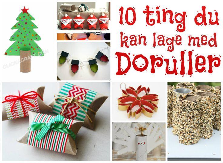 10 tinger du kan lage med doruller! En dorull, flere doruller, mange artige ideer!