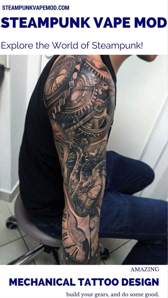 Bio-mechanical tattoos feature futuristic and ultramodern designs of machines…
