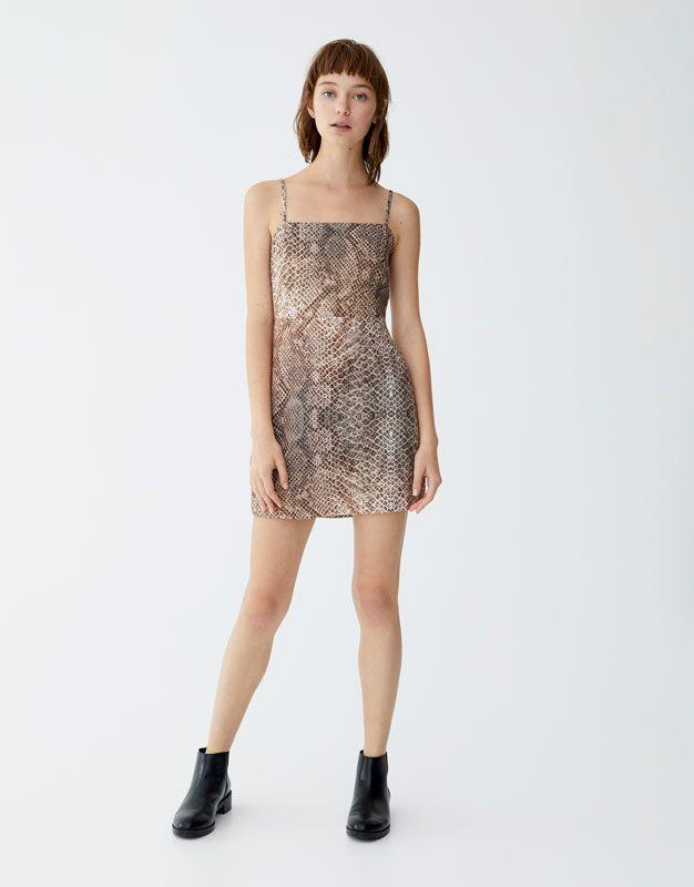 b4b4581c11062 Snakeskin print dress - pull&bear | aw18 2 | Dresses, Formal dresses ...