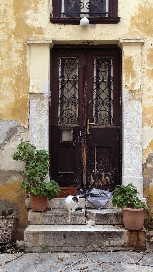 Old door in Athens (Plaka), Greece