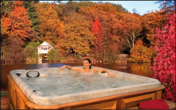 Arctic Spas hot tub in the fall. GORGEOUS! http://www.arcticspashalifax.com/photo-gallery/