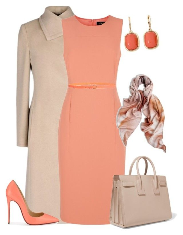 outfit3577 by natalyag on Polyvore featuring polyvore fashion style Jaeger Armani Collezioni Christian Louboutin Yves Saint Laurent Monet Chicos J.Crew clothing