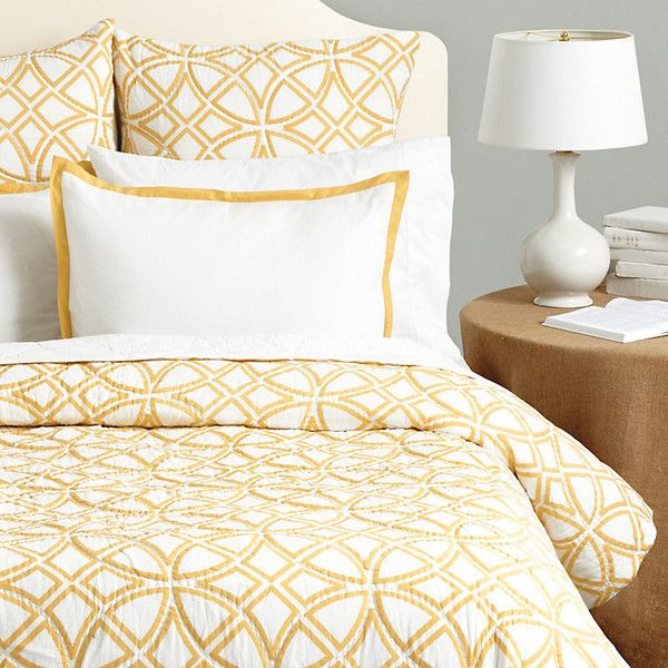 lofty and ultra soft our delphine geometric quilt is just the right weight for comfy summer nights the lacy geometric pattern is printed on dreamy cotton