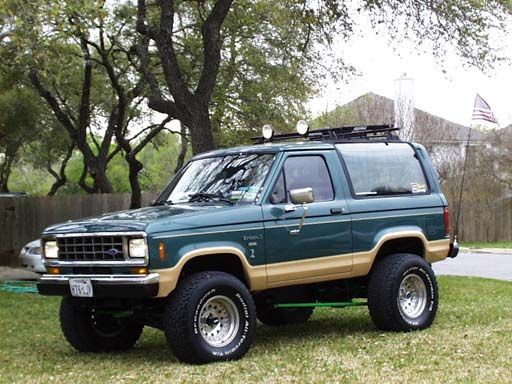 84 Ford Bronco II...The baby rode home in this one in 1995
