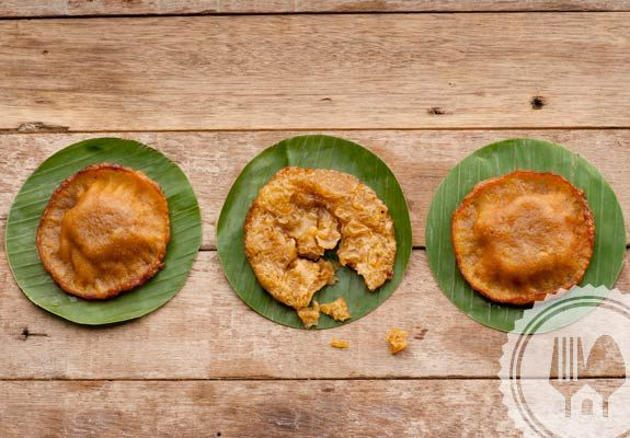 KUE CUCUR. To make the dough rise, you can pin the center part of the dough with the stick. Also the make sure to use hot oil to fry the dough, allowing it to rise perfectly.