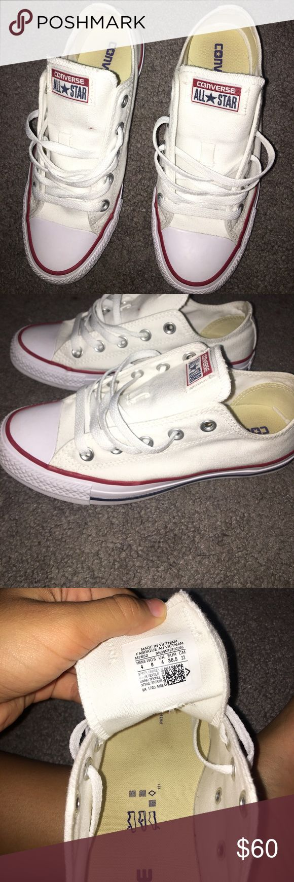 White Converse Woman's size 6. Great condition. Worn once. Don't fit me. Converse Shoes Sneakers