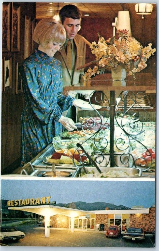 BUTTE, Montana Postcard RAMADA INN Salad Bar Restaurant Buffet c1970s Unused - $4.90   PicClick