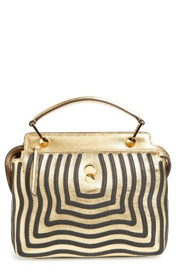 Free shipping and returns on Fendi DOTCOM Click Hypnotic Wave Calfskin Leather Satchel at Nordstrom.com. A satchel that stands out against the rest, this version of Fendi's classic Dot Com bag features hypnotic waves in shimmering metallic calfskin. Designed with convenient dual compartments and an optional, curvilinear shoulder strap, the stylish carryall includes an interior pouch that can be removed and used as a chic clutch in a pinch.