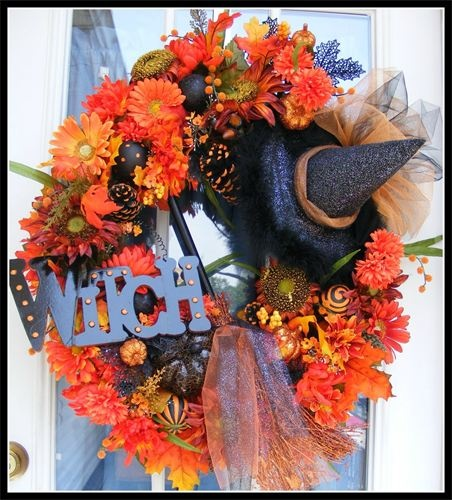 68 best Wreaths images on Pinterest Wreath ideas, Crafts and - luxury halloween decorations