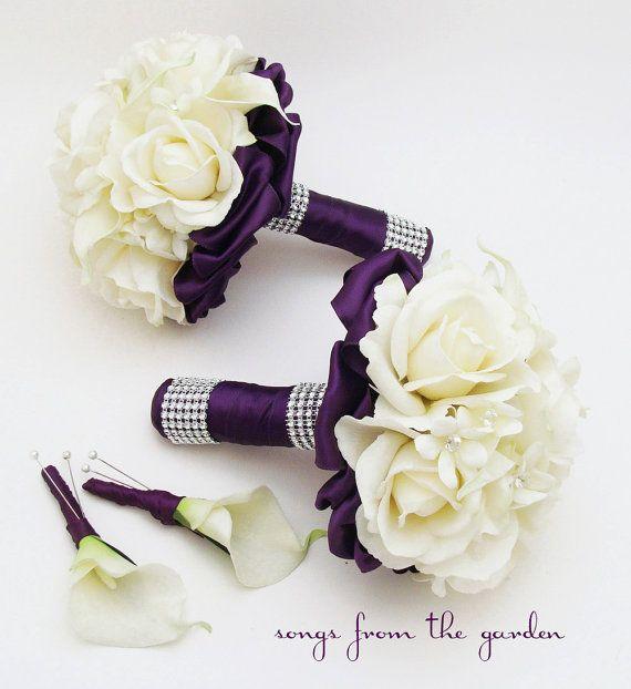 Viola fiore pacchetto damigella d'onore di SongsFromTheGarden