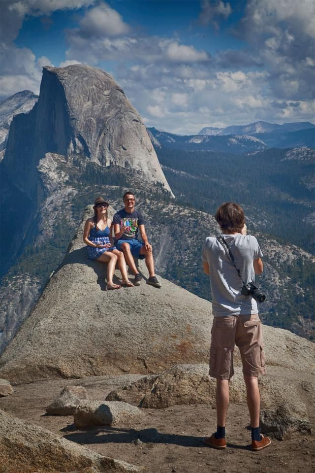 So Much to See, So Little Time: Your 1-Day Guide to Yosemite: Posing for a Photo at Glacier Point
