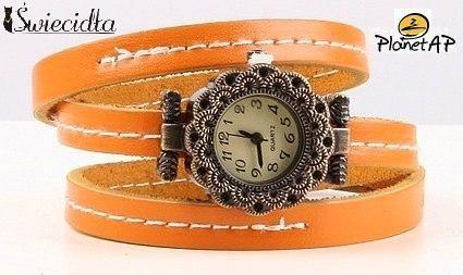 Zegarek na skórzanej bransolecie