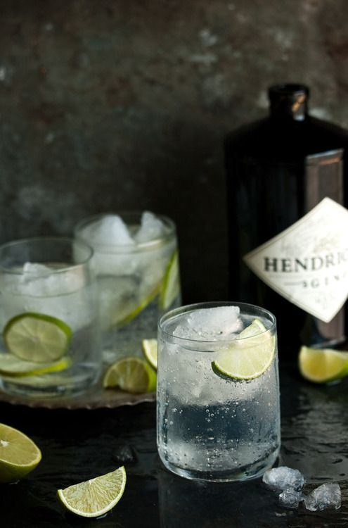 G&T.  But I always serve cucumber slices - not lime wedges - with Hendricks Gin.