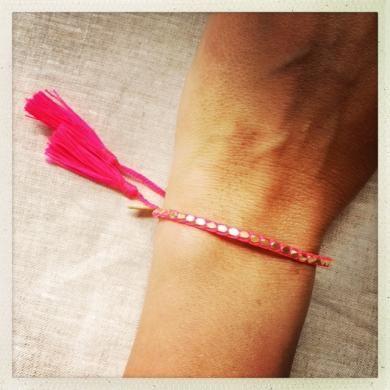 Gloria Bracelet Gold & Hot Pink NEW!