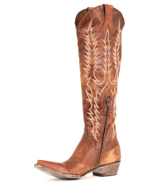 In black these are very nice, but in this rich, buttery, caramel brown they are Even Better! Fabulous!! <3 - Women's Mayra Boot by Old Gringo - Brass $500.00