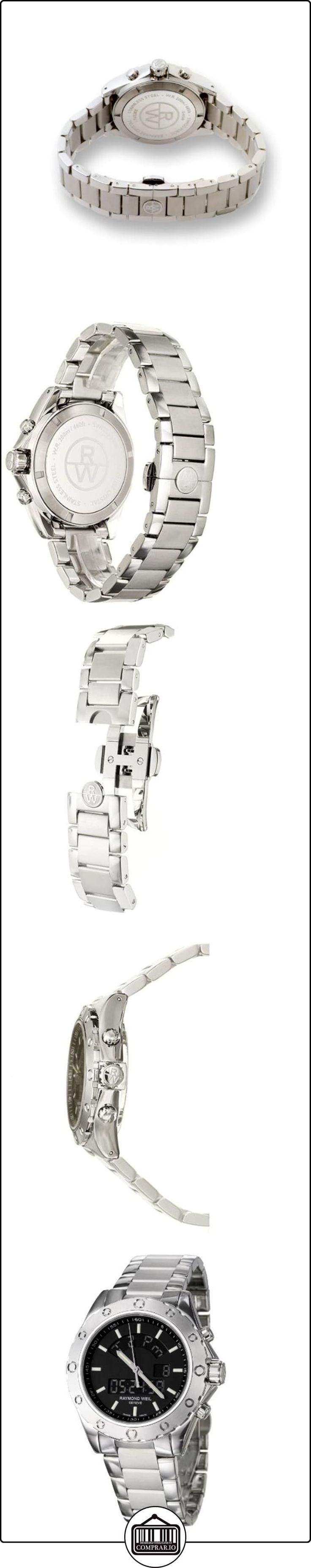Raymond Weil 8400-ST-20001 - Reloj de caballero de cuarzo, correa de acero inoxidable  ✿ Relojes para hombre - (Lujo) ✿