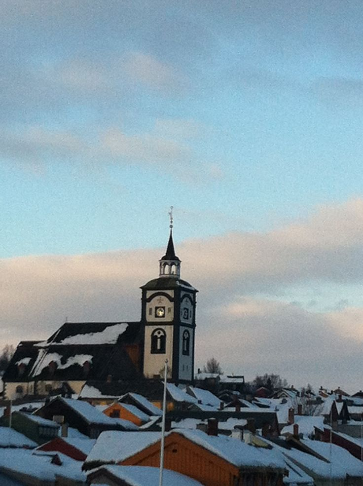 Røros, norway, norwegian church, winter, old town, history, morning