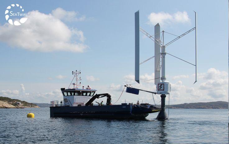 Suedezii de la SeaTwirl ABfolosesc o turbina VAWT Ropatec T30pro offshore. D=10m, H=10m, puterea nominala la 13m/s 30 kW. Turbina VAWT se remarca prin faptul ca poate fi ancorata usor in ape cu adancime mare si are costuri mici de operare si mentenanta datorita numarului mic de piese in miscare.  https://www.youtube.com/watch?v=LEQD_eXc0us  https://www.youtube.   #vawt