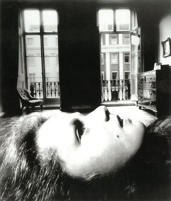 "Bill Brandt/Bill Brandt Archive Ltd., courtesy of MoMA ""Portrait of a Young Girl, Eaton Place."" 1955."