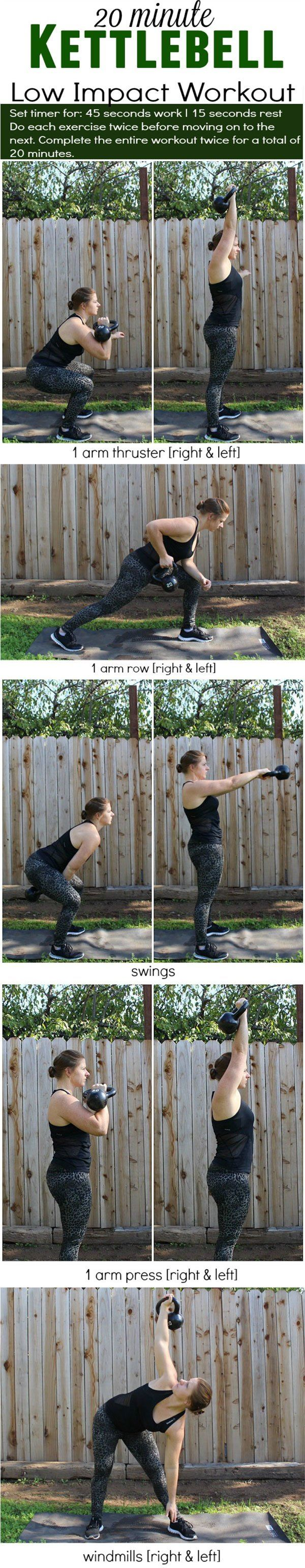 Kettlebell Low Impact Workout