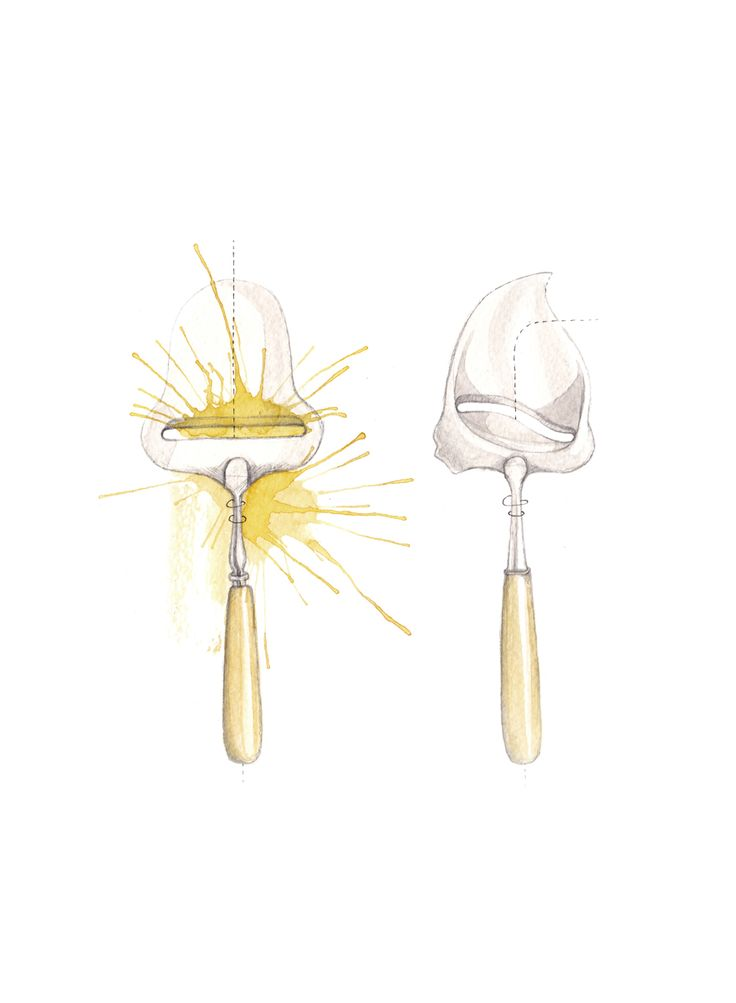 """Ostehøvler"" (Norwegian cheese slicers)  Copyright: Emmeselle.no   illustration by Mona Stenseth Larsen"