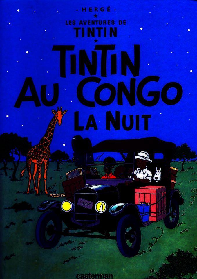 Les Aventures de Tintin - Album Imaginaire - Tintin au Congo la Nuit
