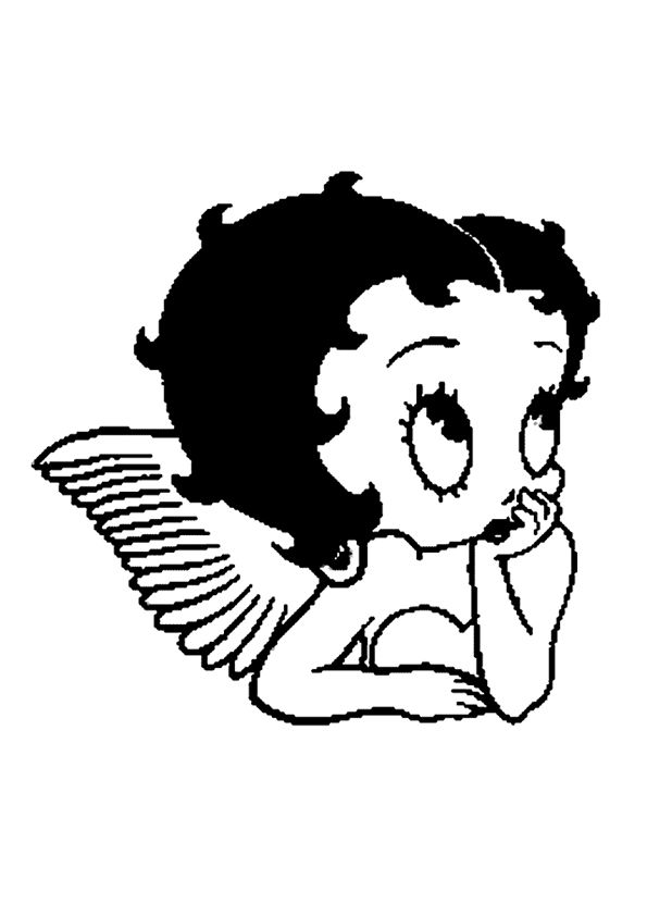 baby betty boop coloring pages - Betty Boop Coloring Pages