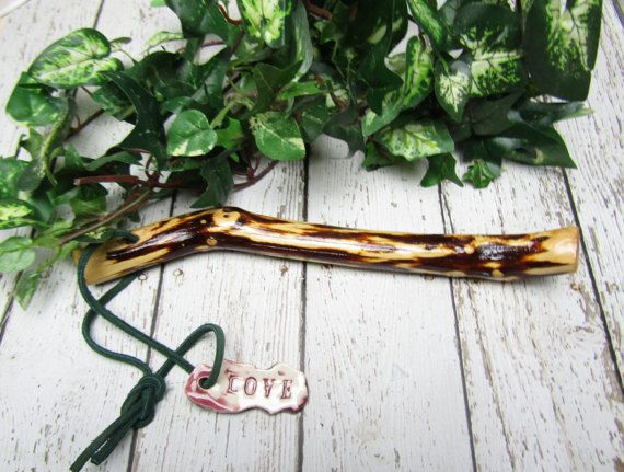 Talking Stick for Council Mountain Laurel Personalized Custom Talking Stick by LaurelArts