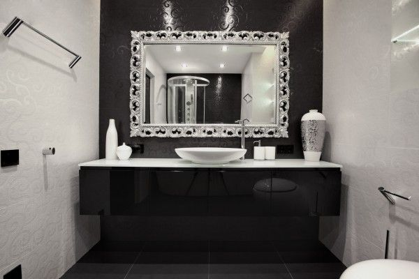 Black vanity unit