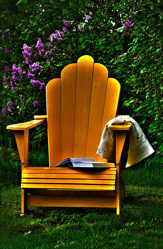 Photo Art  Unframed wall art with Adirondack Chair