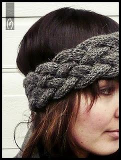 modèle de bandeau à tricoter