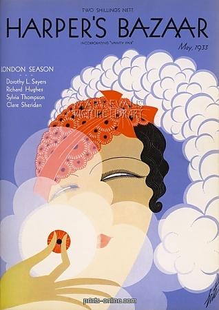 Erte - Harper's Bazaar Cover, May 1933