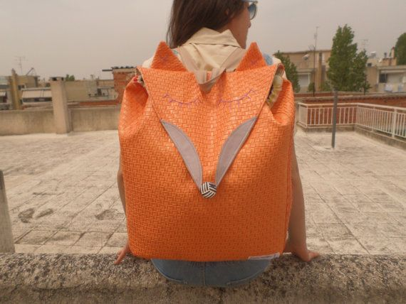 Check out this item in my Etsy shop https://www.etsy.com/listing/293395573/the-fox-backpack-orange-leather