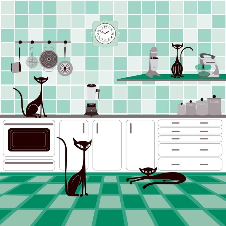 Domesticats - Limited Edition Modern Pop Cat Print by Kerry Beary