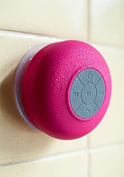Waterproof Bluetooth Shower Speaker: With this device, you can experience the new wave of Bluetooth technology. Connect to all Bluetooth capable devices to listen to your favorite music or take advantage of the built in call answering feature for use as a hands-free speakerphone. It ...Read More @ http://greateststuffonearth.com/waterproof-bluetooth-shower-speaker/