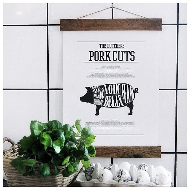 Looking for posters for the kitchen? Our poster Pork and beef cuts looks amazing and fits perfect in the kitchen Thank you @caisa_k for sharing this picture! Visit desenio.se for orders from Sweden and desenio.fi for orders from Finland Happy monday! #desenio #kitchen #poster #art #print #kitcheninspo