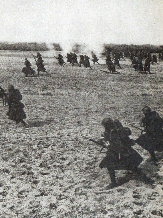 Polish troops on the offensive during in 1939.