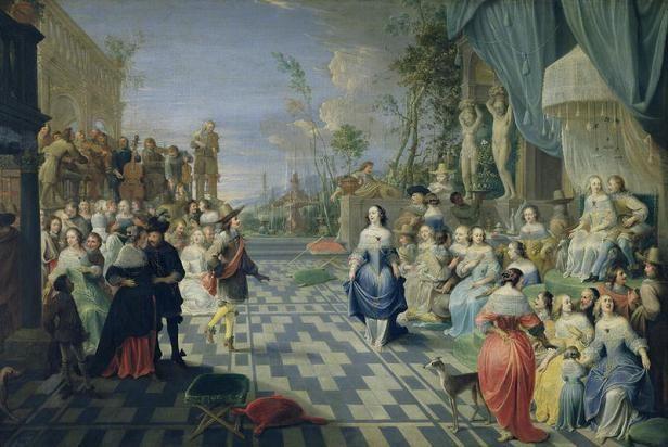 Иеронимус Йенссенс Бал на террасе дворца